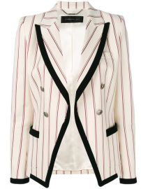 Barbara Bui Striped Contrast Fitted Blazer at Farfetch