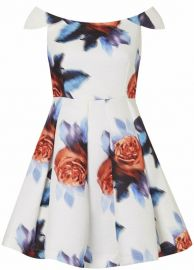 Bardot Dress in Digital Floral at Topshop