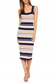 Bardot Multi Stripe Midi Sweater Dress at Nordstrom