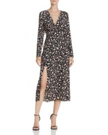 Bardot Slit Floral Print Dress at Bloomingdales