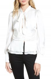 Bardot Tie Front Blouse at Nordstrom