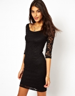 Bardot lace mini dress at Asos