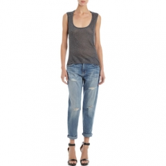 Barneys New York Longer Back Speckled Tank at Barneys