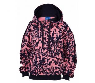 Baroque Hoodie by Adidas in Pink at Footlocker
