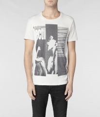 Barred Band Crew Tshirt at All Saints