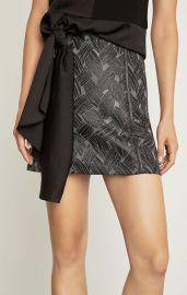 Basket Weave Jacquard Mini Skirt at BCBGMAXAZRIA