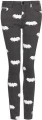 Bat Print Jeans at Topshop