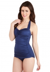 Bathing Beauty One Piece in Navy at ModCloth