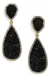 BaubleBar Moonlight Drop Earrings black at Nordstrom