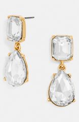 BaubleBar and39Divaand39 Drop Earrings in Clear at Nordstrom
