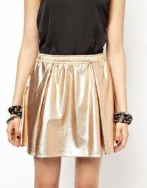 Bcbgeneration Metallic Skirt at Asos