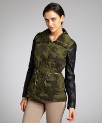 Bcbgeneration camo faux leather jacket at Bluefly