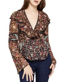 Bcbgeneration floral top at Last Call