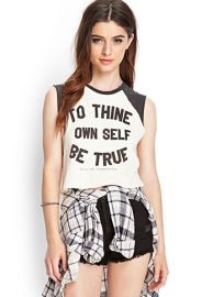 Be True Cutoff Tee  Forever 21 - 2000083338 at Forever 21