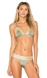 Beach Bunny Sheer Addiction Triangle Top in Army from Revolve com at Revolve