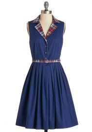 Beacon of Charm Dress in Plaid at ModCloth