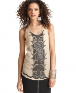 Beaded tank by Bar III at Macys