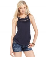 Beaded tank top by Lucky Brand at Macys