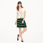 Beanstalk stripe skirt at J. Crew
