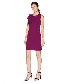 Bebe Asymmetrical Ruffle Sheath Dress at Zappos