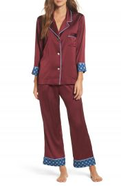 Bed to Brunch Pinstripe Crop Pajamas at Nordstrom