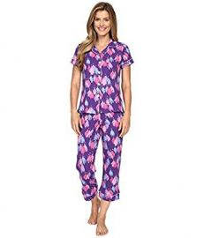 BedHead Womens Short Sleeve Cropped Bottom Pajama Set at Amazon