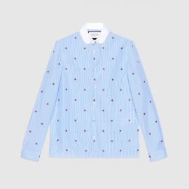 Bee Fil Coupe Cambridge Shirt by Gucci at Gucci