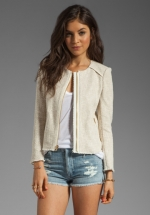 Beige jacket by Juicy Couture at Revolve