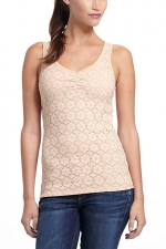 Beige tank top from Anthropologie at Anthropologie
