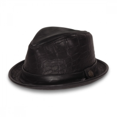 Belksy Leather Fedora at Goorin Bros