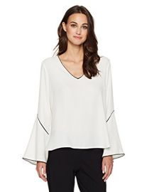 Bell Sleeve Blouse by Calvin Klein at Amazon