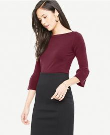 Bell Sleeve Boatneck Sweater at Ann Taylor