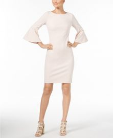 Bell-Sleeve Sheath Dress by Calvin Klein at Macys
