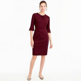 Bell-sleeve sheath in stretch ponte at J. Crew