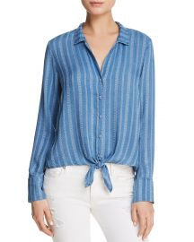 Bella Dahl Striped Tie-Front Button-Down Shirt at Bloomingdales