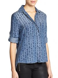 Bella Dahl - Printed Patch-Pocket Shirt at Saks Fifth Avenue