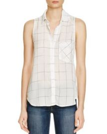 Bella Dahl Pocket Button Down Windowpane Shirt at Bloomingdales