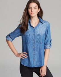 Bella Dahl Shirt - Denim Seamed Pocket at Bloomingdales