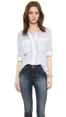 Bella Dahl Split Back Button Down at Shopbop