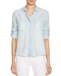 Bella Dahl Split Back Button-Down Chambray Shirt x at Bloomingdales