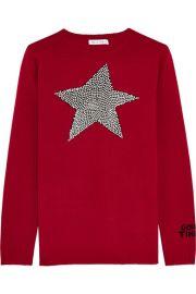 Bella Freud  Star Studded intarsia merino wool sweater  at Net A Porter