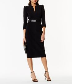 Belt Pencil Dress at Karen Millen