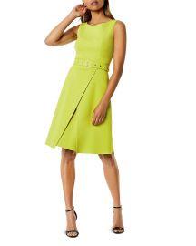 Belted A-Line Dress by Karen Millen at Bloomingdales