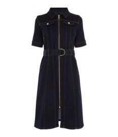 Belted Denim Dress at Karen Millen