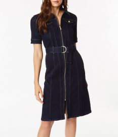 Belted Denim Dress Karen Millen at Karen Millen