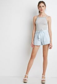 Belted Denim Shorts  Forever 21 - 2000132045 at Forever 21