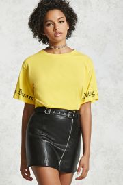 Belted Faux Leather Mini Skirt   Forever 21 - 2000089114 at Forever 21
