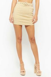 Belted Gingham Skirt at Forever 21
