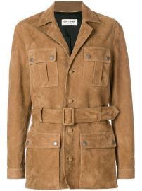 Belted Safari Jacket by Saint Laurent at Farfetch