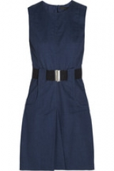 Belted denim dress by Victoria Beckham at Net A Porter